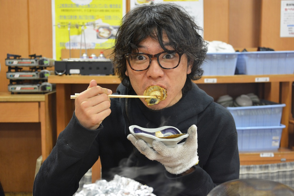 ホタテ食べる